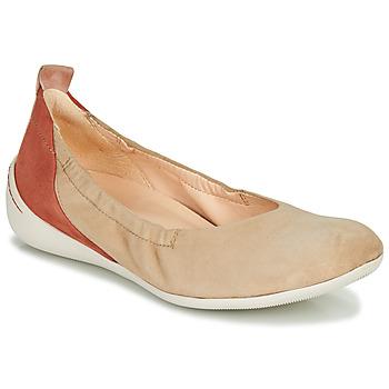 kengät Naiset Balleriinat Think CUGAL Beige / Punainen