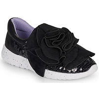 kengät Naiset Matalavartiset tennarit Irregular Choice RAGTIME RUFFLES Black
