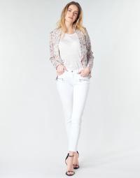 vaatteet Naiset Skinny-farkut Le Temps des Cerises KIEV SKINY7/8 White