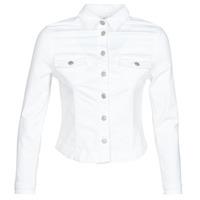 vaatteet Naiset Farkkutakki Le Temps des Cerises LILLY White