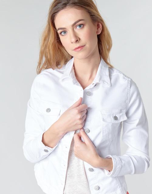 Le Temps Des Cerises Lilly White - Ilmainen Toimitus- Vaatteet Farkkutakki Naiset 65