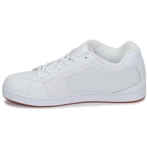Dc Shoes Net White - Ilmainen Toimitus- Kengät Matalavartiset Tennarit Miehet 53