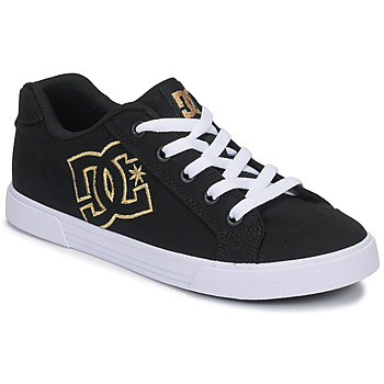 kengät Naiset Matalavartiset tennarit DC Shoes CHELSEA TX Black / Kulta