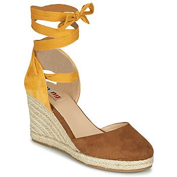 kengät Naiset Sandaalit ja avokkaat MTNG GELLO Brown / Sinappi