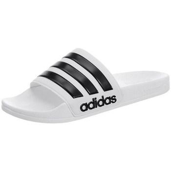 kengät Miehet Rantasandaalit adidas Originals Adilette Cloudfoam Valkoiset,Mustat