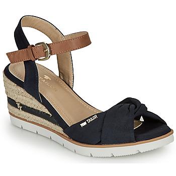 kengät Naiset Sandaalit ja avokkaat Tom Tailor 8090403 Laivastonsininen