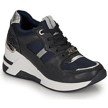 kengät Naiset Matalavartiset tennarit Tom Tailor 8091512 Laivastonsininen / Musta