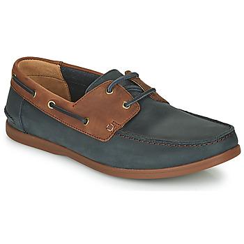 kengät Miehet Derby-kengät Clarks PICKWELL SAIL Laivastonsininen / Brown