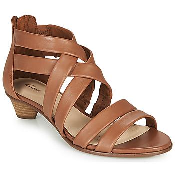 kengät Naiset Sandaalit ja avokkaat Clarks MENA SILK Camel