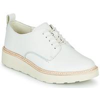 kengät Naiset Derby-kengät Clarks TRACE WALK White