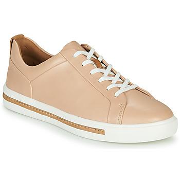 kengät Naiset Matalavartiset tennarit Clarks UN MAUI LACE Pink
