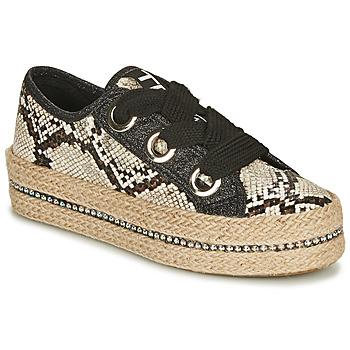 kengät Naiset Espadrillot Tosca Blu TAHITI Black / Python