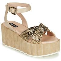 kengät Naiset Sandaalit ja avokkaat Tosca Blu MOOREA Beige / Python