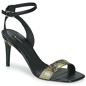 kengät Naiset Sandaalit ja avokkaat Tosca Blu LA-DIGUE Black / Python / Yellow