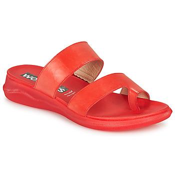 kengät Naiset Varvassandaalit Wonders PERGAMENA Red
