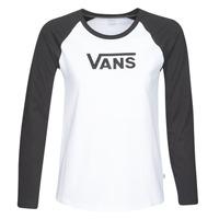vaatteet Naiset T-paidat pitkillä hihoilla Vans FLYING V LS RAGLAN White / Black