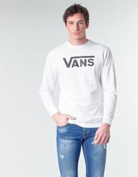 vaatteet Miehet T-paidat pitkillä hihoilla Vans VANS CLASSIC White