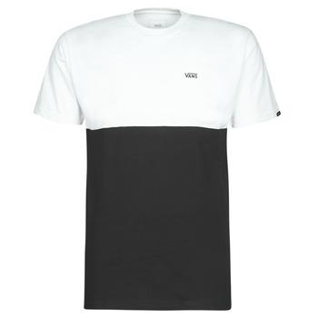 vaatteet Miehet Lyhythihainen t-paita Vans COLORBLOCK TEE Black / White