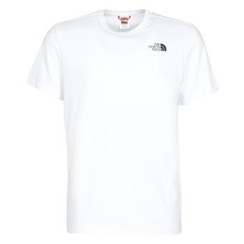 vaatteet Miehet Lyhythihainen t-paita The North Face S/S REDBOX White