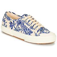 kengät Naiset Matalavartiset tennarit Superga 2294-COTFANW Beige / Blue