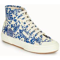 kengät Naiset Korkeavartiset tennarit Superga 2295-COTFANW Beige / Blue
