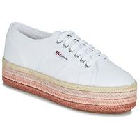 kengät Naiset Matalavartiset tennarit Superga 2790-COTCOLOROPEW White / Pink
