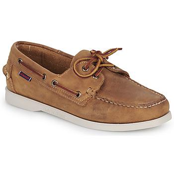 kengät Naiset Purjehduskengät Sebago DOCKSIDES PORTLAND CRAZY H W Brown