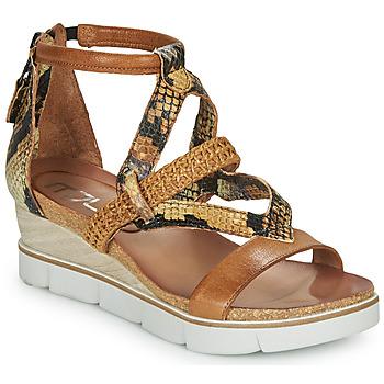 kengät Naiset Sandaalit ja avokkaat Mjus TAPASITA Brown / Python-kuvioinen