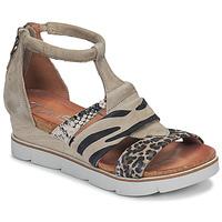 kengät Naiset Sandaalit ja avokkaat Mjus TAPASITA Taupe / Leopardi