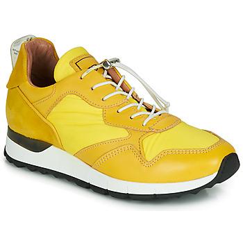 kengät Naiset Matalavartiset tennarit Mjus CAST Yellow