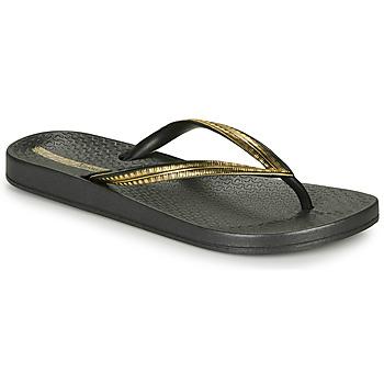 kengät Naiset Varvassandaalit Ipanema MESH IV Black / Kulta
