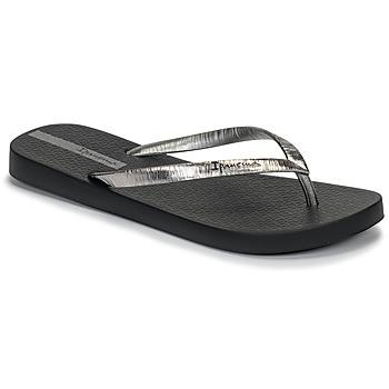 kengät Naiset Varvassandaalit Ipanema GLAM II Black / Hopea