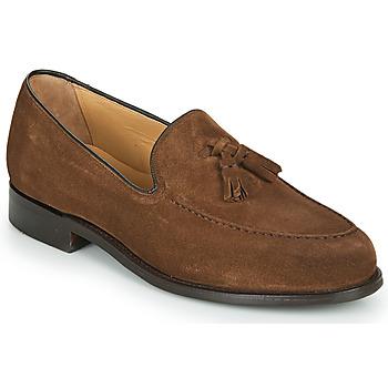 kengät Miehet Mokkasiinit Barker STUDLAND Brown