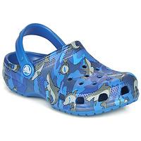 kengät Pojat Puukengät Crocs CLASSIC SHARK CLOG Sininen