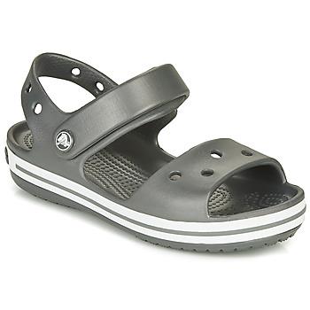 kengät Lapset Urheilusandaalit Crocs CROCBAND SANDAL KIDS Musta / Valkoinen
