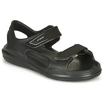 kengät Lapset Sandaalit ja avokkaat Crocs SWIFTWATER EXPEDITION SANDAL Musta