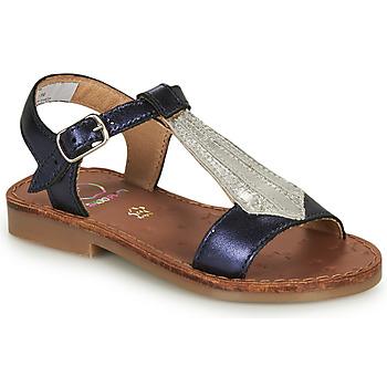 kengät Tytöt Sandaalit ja avokkaat Shoo Pom HAPPY TIE Sininen / Hopea