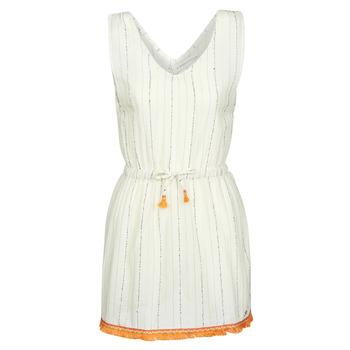 vaatteet Naiset Lyhyt mekko Banana Moon MARZUL MANDALO White / Orange