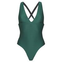 vaatteet Naiset yksiosainen uimapuku Banana Moon ODALIS ROMEO Green / Fonce