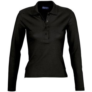 vaatteet Naiset Pitkähihainen poolopaita Sols PODIUM COLORS Negro