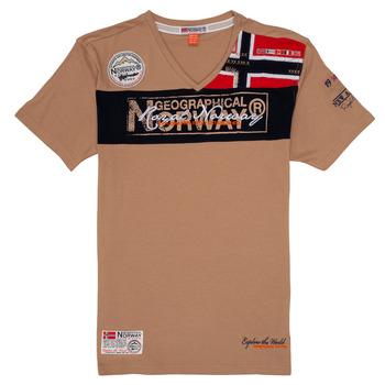 vaatteet Pojat Lyhythihainen t-paita Geographical Norway JIDNEY Beige