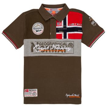 vaatteet Pojat Lyhythihainen poolopaita Geographical Norway KIDNEY Kaki