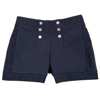 vaatteet Tytöt Shortsit / Bermuda-shortsit Ikks SOLISSO Laivastonsininen