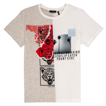 vaatteet Pojat Lyhythihainen t-paita Ikks RULIO Beige / White