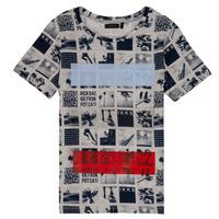 vaatteet Pojat Lyhythihainen t-paita Ikks JULIEN Beige