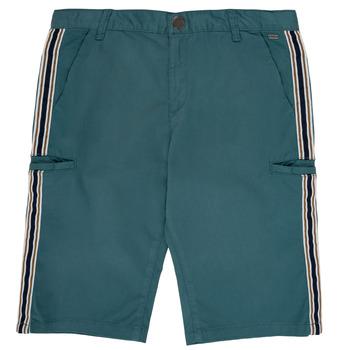 vaatteet Pojat Shortsit / Bermuda-shortsit Ikks MANUELA Sininen / Vihreä