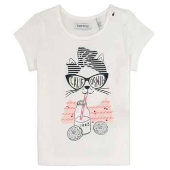 vaatteet Tytöt Lyhythihainen t-paita Ikks MEOLIA Valkoinen
