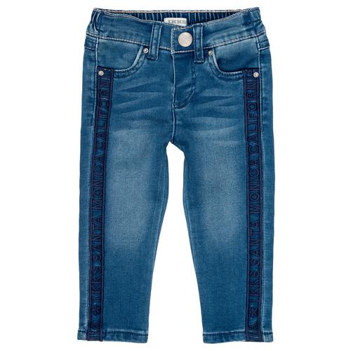 vaatteet Tytöt Slim-farkut Ikks LUISIN Blue