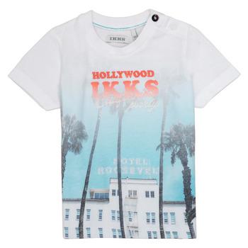 vaatteet Pojat Lyhythihainen t-paita Ikks JOSIANE Valkoinen