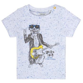 vaatteet Pojat Lyhythihainen t-paita Ikks MARIO Valkoinen